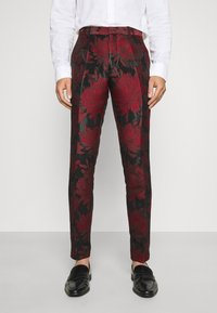Twisted Tailor - LORRIS SUIT - Oblek - black/red - 4