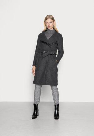VMCLASSMEGAN LONG JACKET  - Klasický kabát - dark grey melange