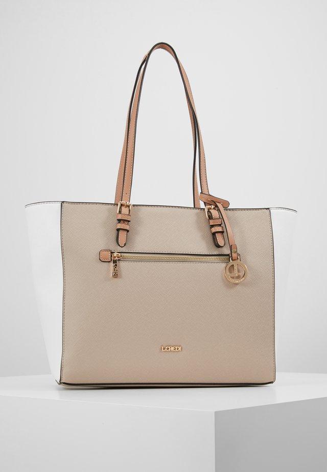 EMELINA - Handbag - beige/weiß