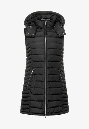 LANGE - Waistcoat - schwarz
