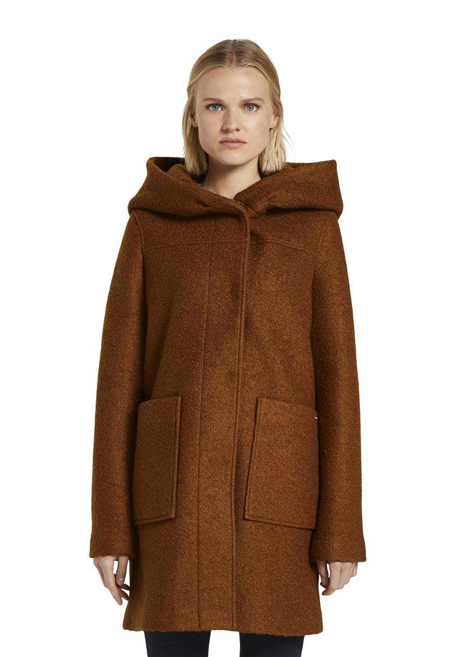 Classic coat - burnt hazelnut brown