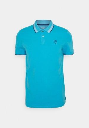 UNDERCOLLAR WORDING - Polo shirt - aquarius turquoise