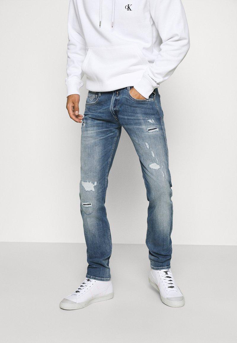 Replay - ANBASS AGED - Straight leg jeans - blue denim