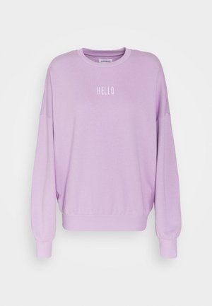 OVERSIZED PRINTED CREW NECK SWEATSHIRT - Sweatshirt - lilac