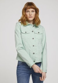 TOM TAILOR - MIT KNITTERDETAILS - Denim jacket - minty green - 0
