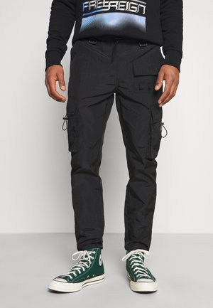 BLK TECH CARGO - Pantalon cargo - black