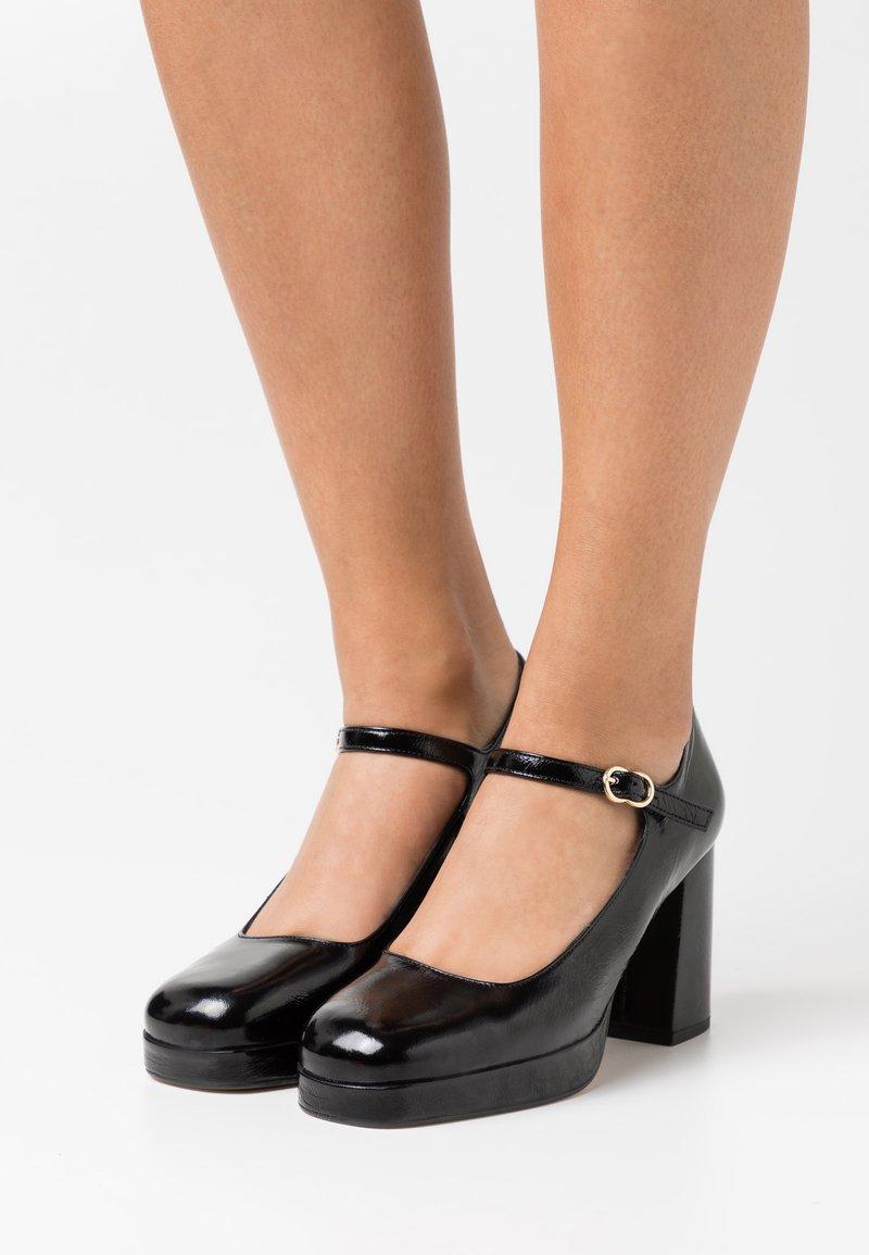 Minelli - Escarpins à plateforme - noir