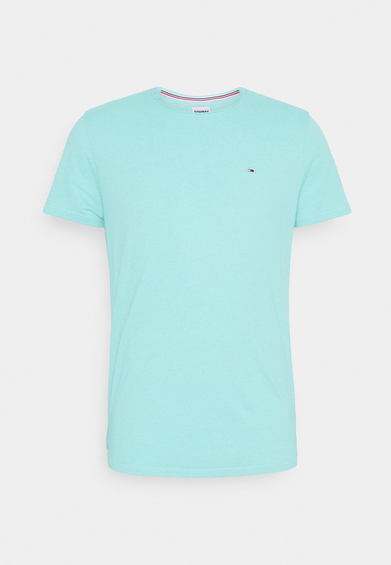 Tommy Jeans - SLIM JASPE C NECK - T-shirt basique - blue