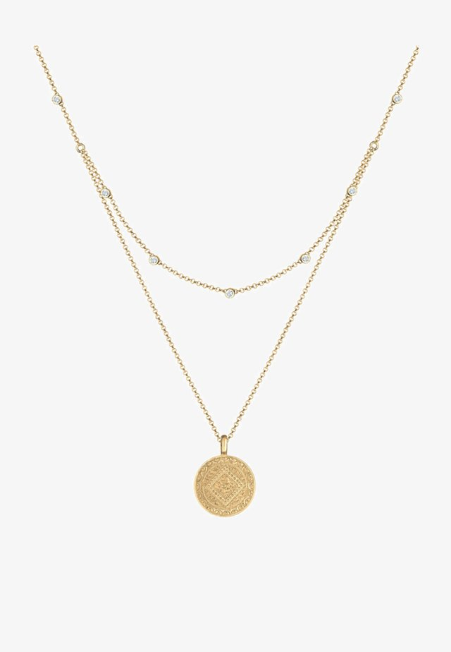 LAYER LOOK COIN PLATE - Collana - gold