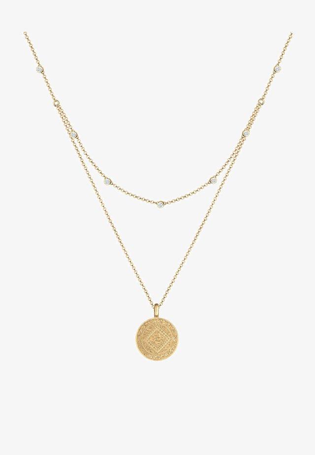 MÜNZE PLÄTTCHEN LAYERING - Necklace - gold