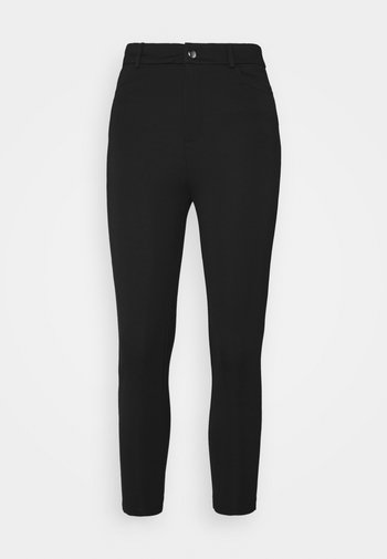 HIGH WAIST 5 pockets PUNTO trousers - Leggings - black