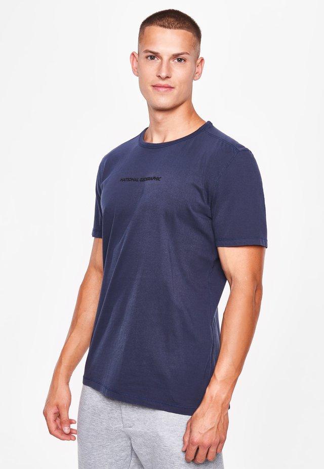 MIT LOGO - Print T-shirt - navy