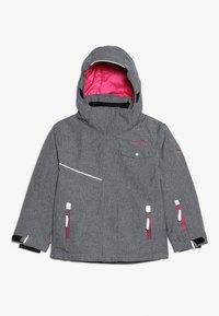 TrollKids - GIRLS HOVDEN JACKET - Ski jacket - grey melange/magenta - 0