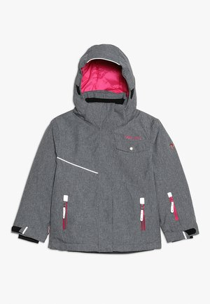 GIRLS HOVDEN JACKET - Laskettelutakki - grey melange/magenta