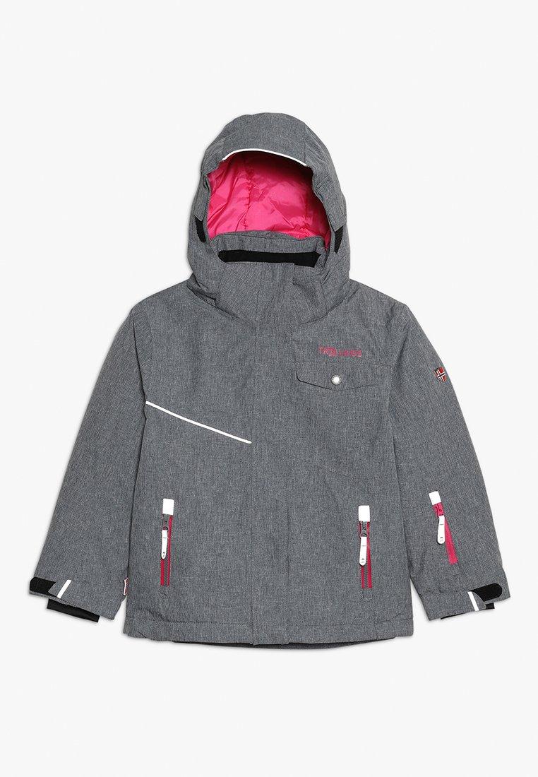TrollKids - GIRLS HOVDEN JACKET - Ski jacket - grey melange/magenta