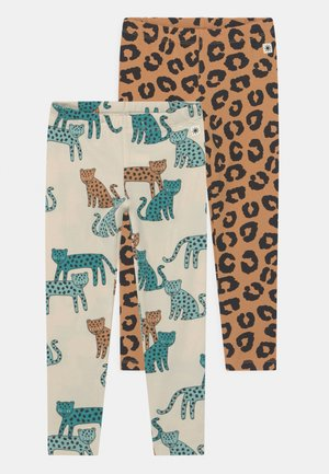 LEO 2 PACK UNISEX - Leggings - dark beige