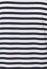 recolution - TENCEL STRIPES - Print T-shirt - navy/white - 2