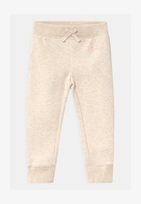 GAP - TODDLER GIRL LOGO - Trousers - mottled beige - 0