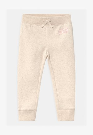 TODDLER GIRL LOGO - Trousers - mottled beige