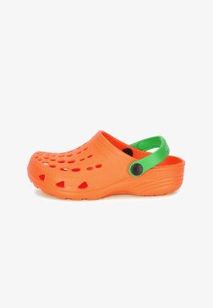 Sabots - orange/green