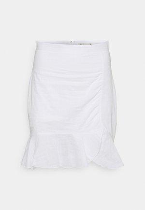 FLOUNCY SKIRT - Pencil skirt - white