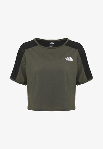 W ACTIVE TRAIL - Print T-shirt - new taupe green