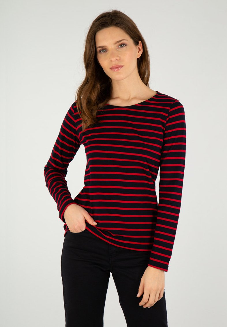 Femme PLOZEVET MARINIÈRE - T-shirt à manches longues