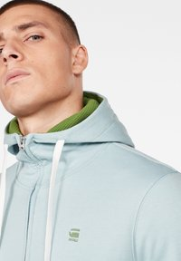 G-Star - 2-TONE HOODED ZIP THROUGH - Huvtröja med dragkedja - deep sky