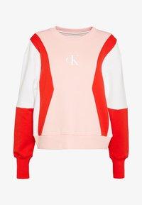 COLOR BLOCK CREW NECK - Sudadera - keepsake pink/white /red