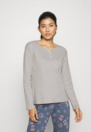 Pyjama top - stone grey melange