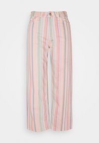 WIDE LEG - Relaxed fit jeans - rainbow stripe