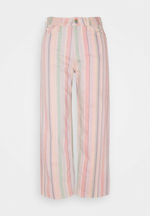 WIDE LEG - Jeans relaxed fit - rainbow stripe