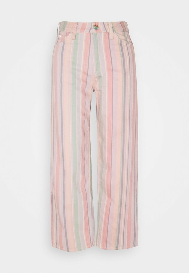 WIDE LEG - Jeans baggy - rainbow stripe