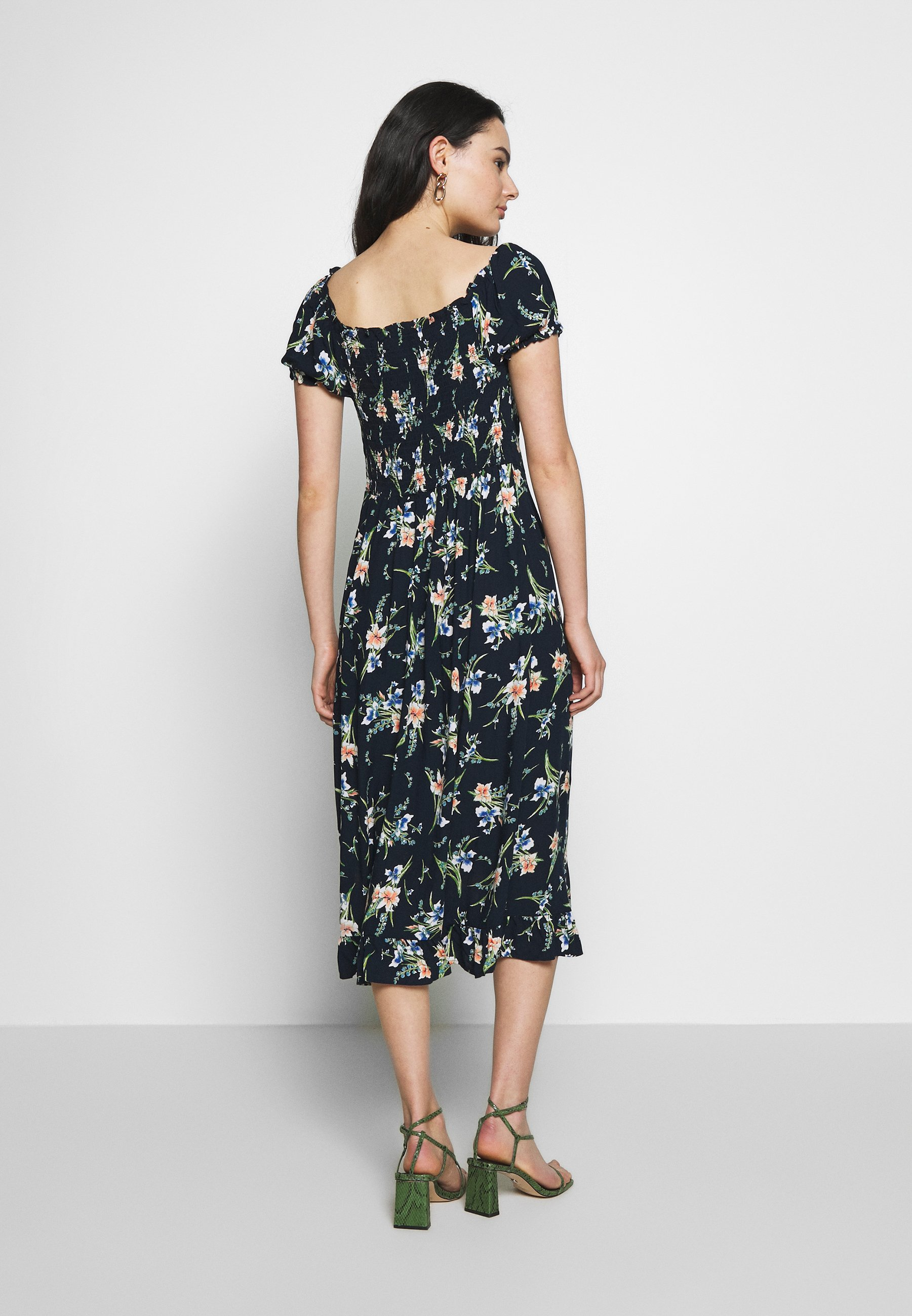Dorothy Perkins BUTTON THROUGH MIDI DRESS - Jerseykjole - navy