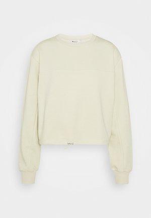 CROPPED DRAWSTRING - Sweatshirt - beige