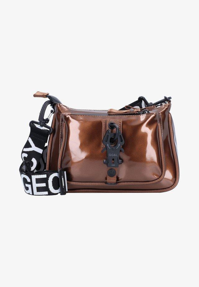 Across body bag - metalici brown