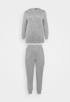 PRETTY LOUNGE HOODED LOUNGE SET - Pyjamaser - grey marl