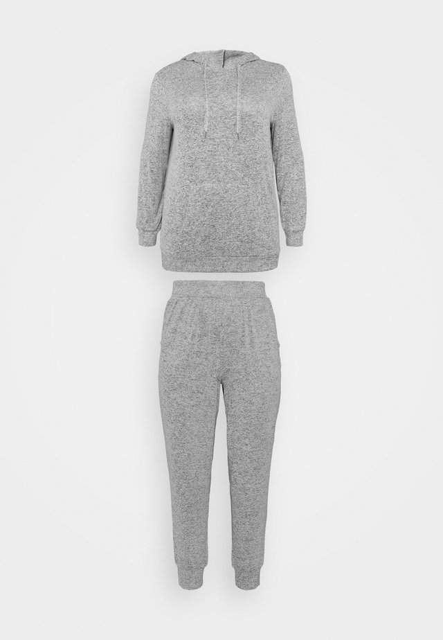 PRETTY LOUNGE HOODED LOUNGE SET - Pyjama - grey marl
