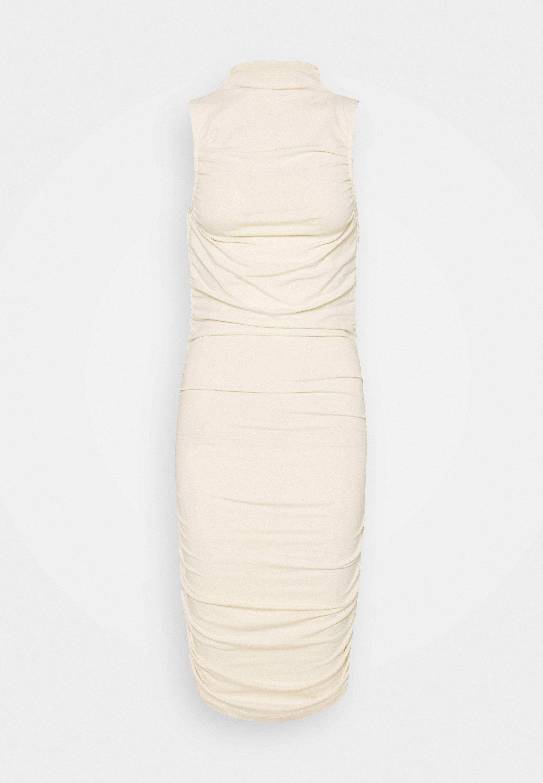 Women GATHERED SLEEVELESS DRESS - Jersey dress