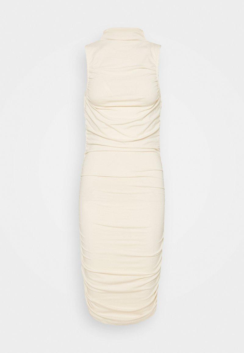 NA-KD - GATHERED SLEEVELESS DRESS - Jersey dress - light beige