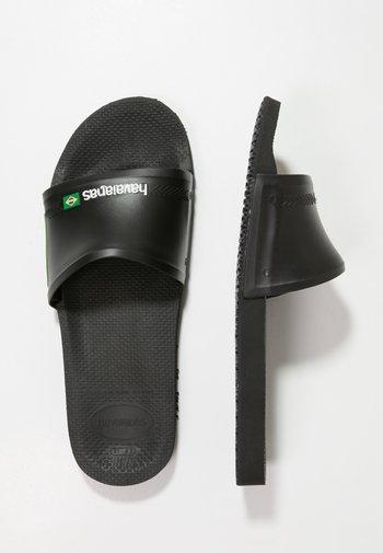 SLIDE BRASIL - Badesandaler - black