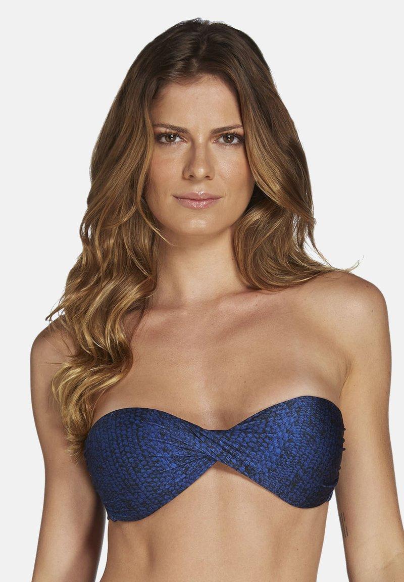 CIA MARÍTIMA - TIBET,TWISTED  - Bikini top - blue
