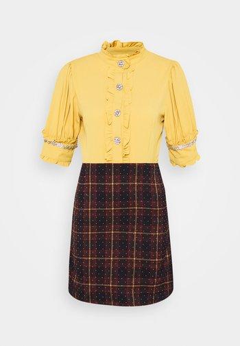 TEMPO CHECK EMBELLISHED MINI DRESS - Day dress - multi