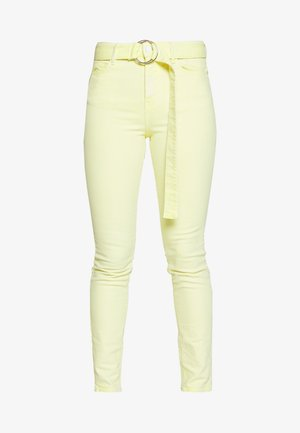 Jeansy Skinny Fit - yellow