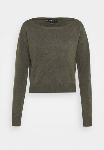 TANYA BOAT NECK - Jumper - asphalt grey