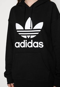 adidas Originals - HOODIE - Hoodie - black/white - 4
