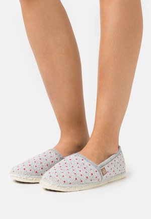 PANTOUFLE CLASSIC COUER - Slippers - gris/rouge