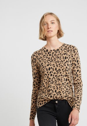 LEOPARD LAYLA - Strickpullover - camel