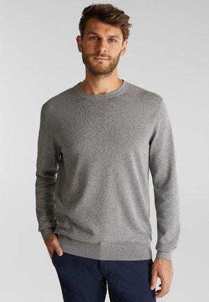 AUS 100% ORGANIC COTTON - Stickad tröja - medium grey