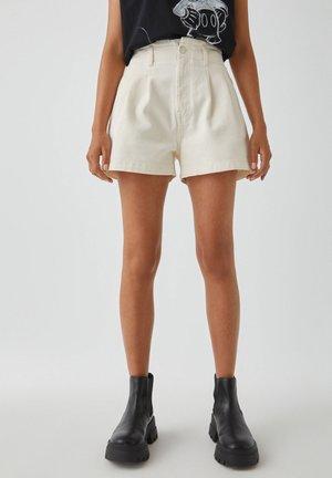 HOHEM BUND - Denim shorts - beige